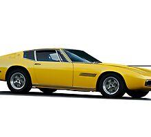 1967 Maserati Ghilbi isolated on white by DaveKoontz