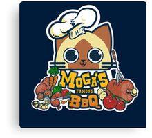 MOGA'S FAMOUS BBQ Canvas Print