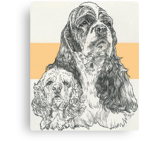 American Cocker Spaniel, Father & Son Canvas Print