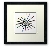 Pencil Supernova Framed Print