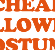 Cheap Halloween Costume  Sticker