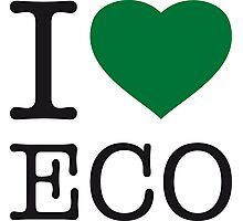 I ♥ ECO Photographic Print