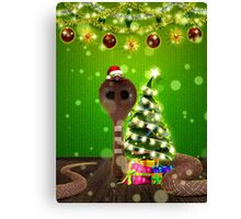 Christmas santa snake Canvas Print
