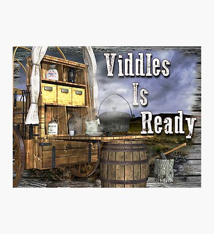 Viddles Is Ready Photographic Print