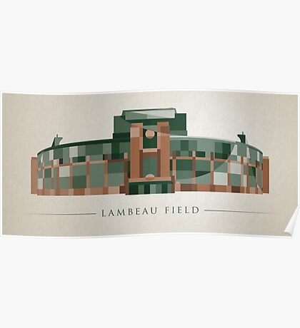 Green Bay Packers | Lambeau Field | Polygonal Illustration Poster