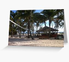 Hostel on the beach Greeting Card