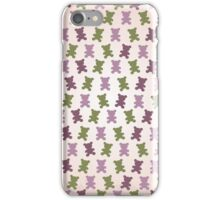 Adorable purple pink teddy bear design in camouflage theme 1  iPhone Case/Skin