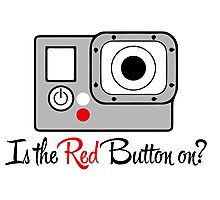 The Red Button Photographic Print