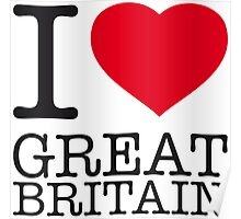 I ♥ GREAT BRITAIN Poster