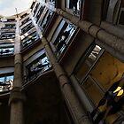 La Pedrera Courtyard – Antoni Gaudi's Masterpiece in Barcelona, Spain by Georgia Mizuleva