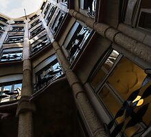 La Pedrera Courtyard – Antoni Gaudi's Masterpiece in Barcelona, Spain by Georgia Mizuleva