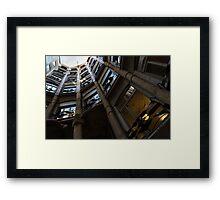 La Pedrera Courtyard – Antoni Gaudi's Masterpiece in Barcelona, Spain Framed Print