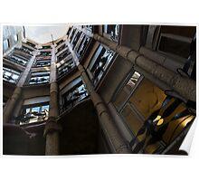La Pedrera Courtyard – Antoni Gaudi's Masterpiece in Barcelona, Spain Poster