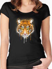 Graffiti Tiger Women's Fitted Scoop T-Shirt