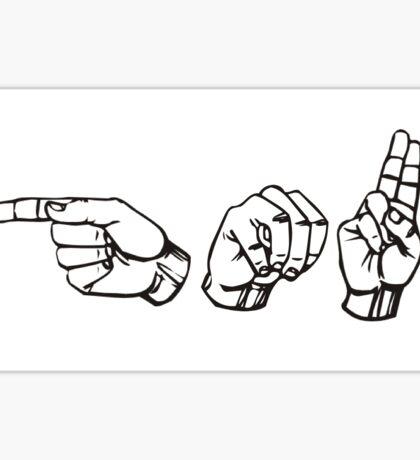 George Mason GMU in ASL  Sticker