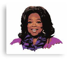 Oprah Winfrey Portrait Canvas Print