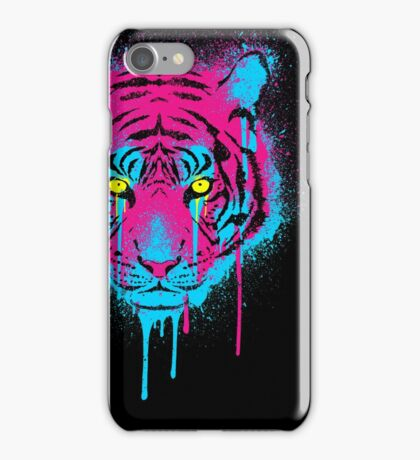 CMYK Tiger Graffiti iPhone Case/Skin