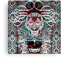 """Day of The Dead Series: La """"La-la"""" Canvas Print"""