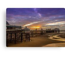 Blackpool North Pier at sunset Canvas Print