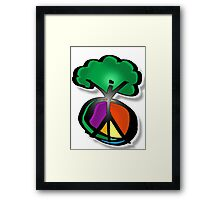 peace for trees Framed Print