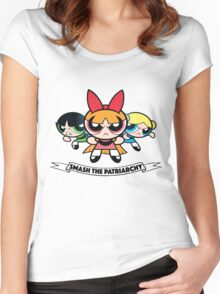 Powerpuff Girls // Smash the Patriarchy Women's Fitted Scoop T-Shirt