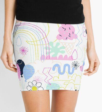 Soft Pop Summer Fun Mini Skirt