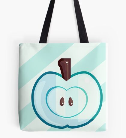 Turquoise Apple Tote Bag