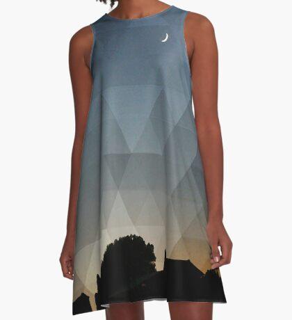 Triangle Dusk A-Line Dress