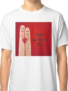 Happy Valentines Fingers Classic T-Shirt