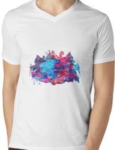 Zen Doodle 1 Magenta (Revised) Mens V-Neck T-Shirt