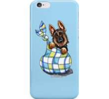 German Shepherd Sack Puppy iPhone Case/Skin