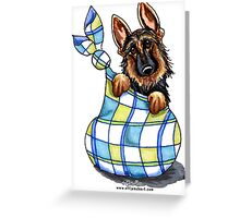 German Shepherd Sack Puppy Greeting Card