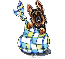 German Shepherd Sack Puppy Photographic Print