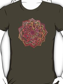 Watercolor Medallion in Sunset Colors T-Shirt