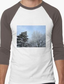Snowy Trees Men's Baseball ¾ T-Shirt