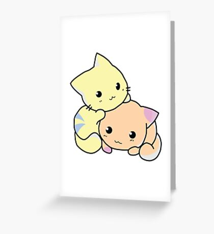 Two Kitties -  Cuteness overload (COLOR) Greeting Card