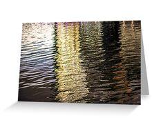 Reflecting Upon Water. Greeting Card