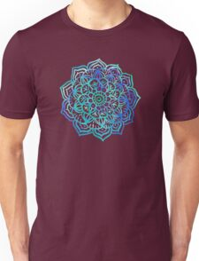 Watercolor Medallion in Ocean Colors Unisex T-Shirt