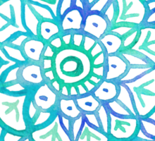 Watercolor Medallion in Ocean Colors Sticker