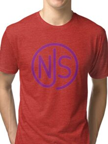 NJS stamp (purple print) Tri-blend T-Shirt