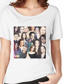daisy ridley collage Women's Relaxed Fit T-Shirt