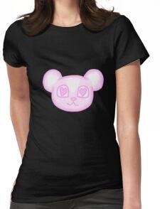 Kawaii Sakura Panda  Womens Fitted T-Shirt