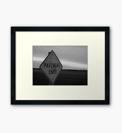 The End Is Nigh Framed Print