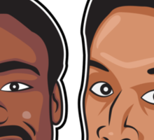Evil Troy and Evil Abed Sticker