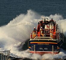 Bembridge Lifeboat Launch by Jonathan Cox