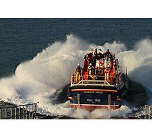 Bembridge Lifeboat Launch Photographic Print