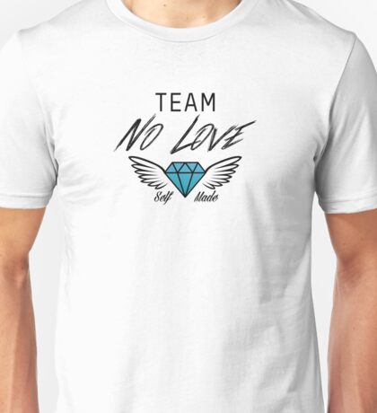 Team No Love | Black Unisex T-Shirt