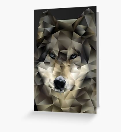 Abstract Wolf Greeting Card