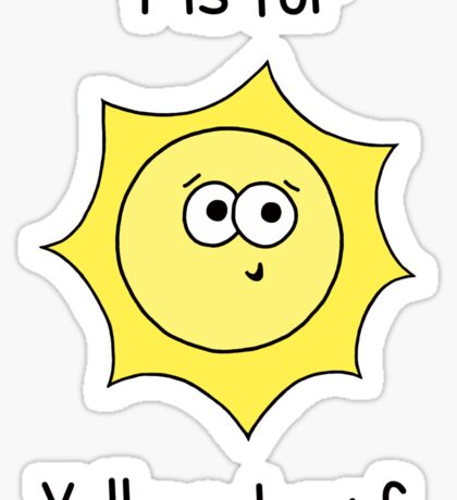 Y is for Yellow Dwarf Sticker