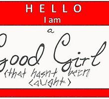 good girls name tag horizontal  by o-my-morgan